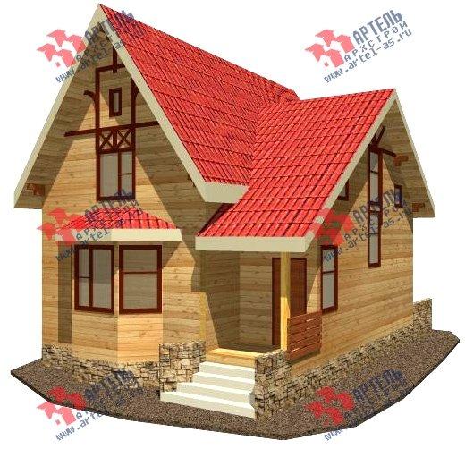 двухэтажный дом из бруса площадью от 100 до 150 кв. м. с  верандой, мансардой, эркером, проект Вариант 8.5 Г фотография 992