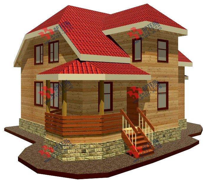 двухэтажный дом из бруса площадью от 100 до 150 кв. м. с  мансардой, террасой, эркером, проект Вариант 8 Д-1 фотография 1012