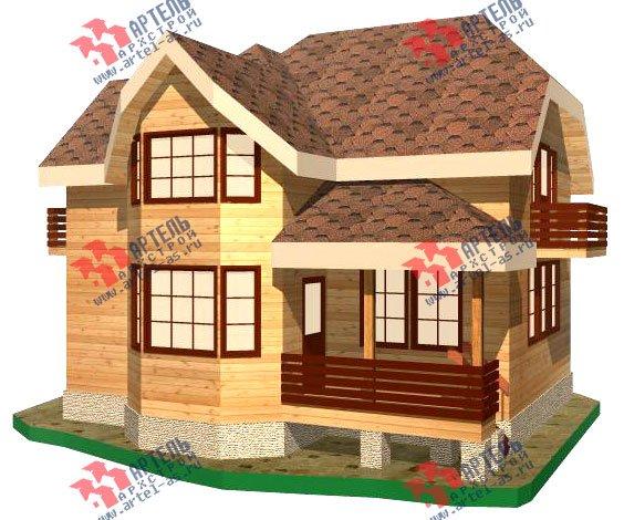 двухэтажный дом из бруса площадью от 100 до 150 кв. м. с  балконом, мансардой, эркером, проект Вариант 9.3 В фотография 1128