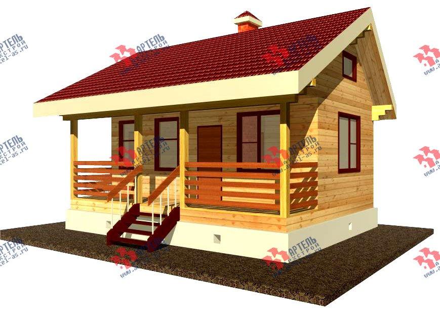 дом из профилированного бруса, проект Вариант 1 фотография 1523