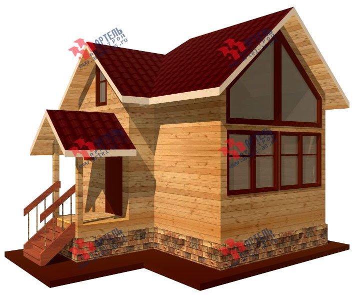 двухэтажный дом из профилированного бруса площадью до 100 кв. м., проект Вариант 3 фотография 1541