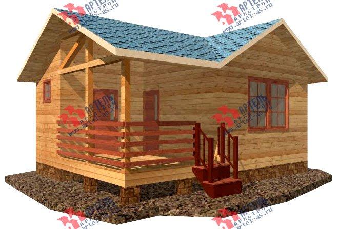 одноэтажный дом из профилированного бруса площадью до 100 кв. м., проект Вариант 4 фотография 1552
