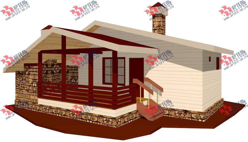 одноэтажный дом из профилированного бруса площадью до 100 кв. м., проект Вариант 5 фотография 1561