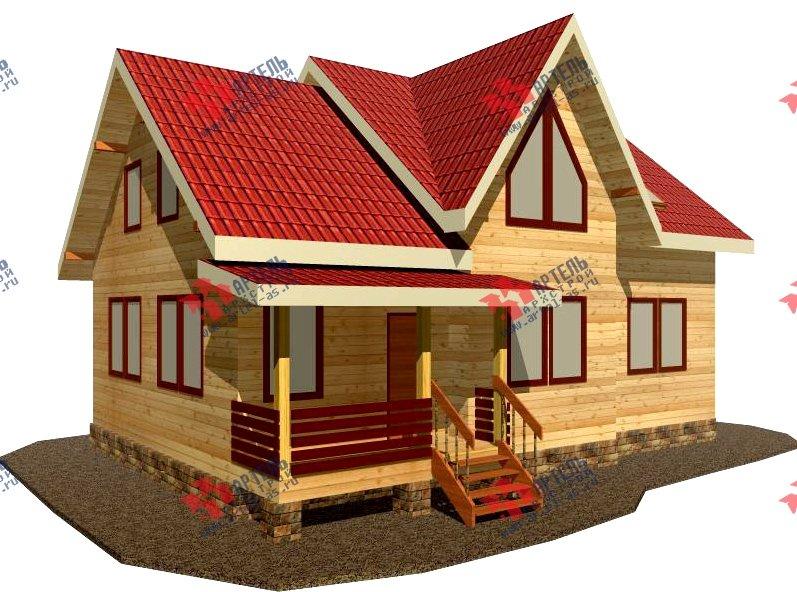 двухэтажный дом из бруса площадью от 150 до 200 кв. м. с  балконом, мансардой, проект Вариант 8.7 К фотография 2137