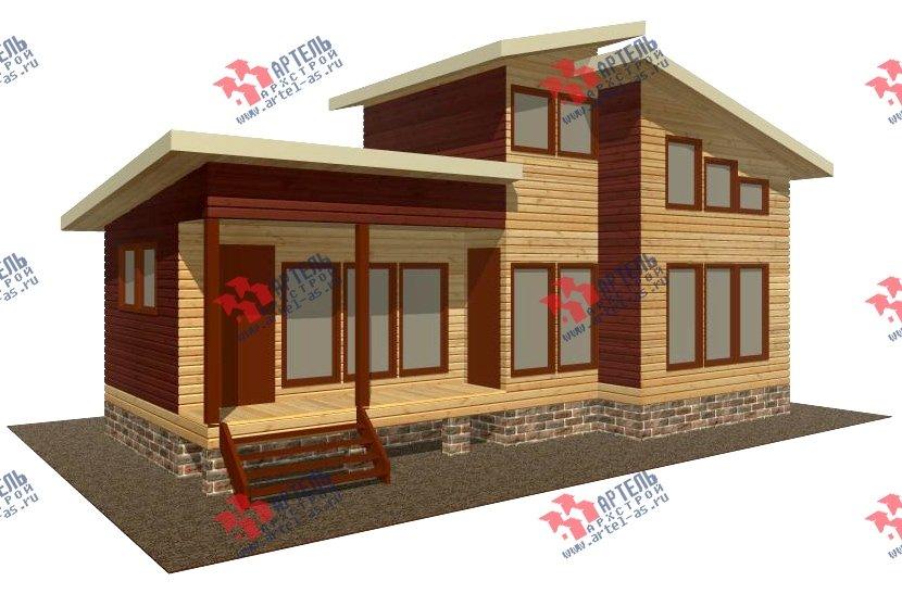 двухэтажный дом из бруса площадью до 100 кв. м. с  мансардой, проект Вариант 7 Л фотография 2162