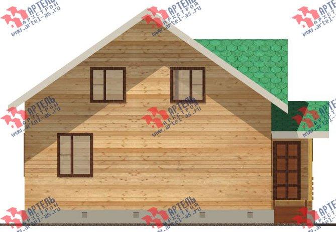 двухэтажный дом из бруса площадью от 100 до 150 кв. м. с  мансардой, проект Вариант 8 А-1 фотография 2193