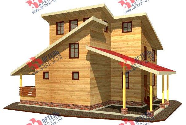двухэтажный дом из бруса площадью от 150 до 200 кв. м. с  мансардой, террасой, проект Вариант 13 В фотография 2220