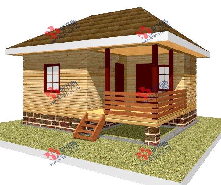 одноэтажный дом из профилированного бруса площадью до 100 кв. м., проект Вариант 6 фотография 2316