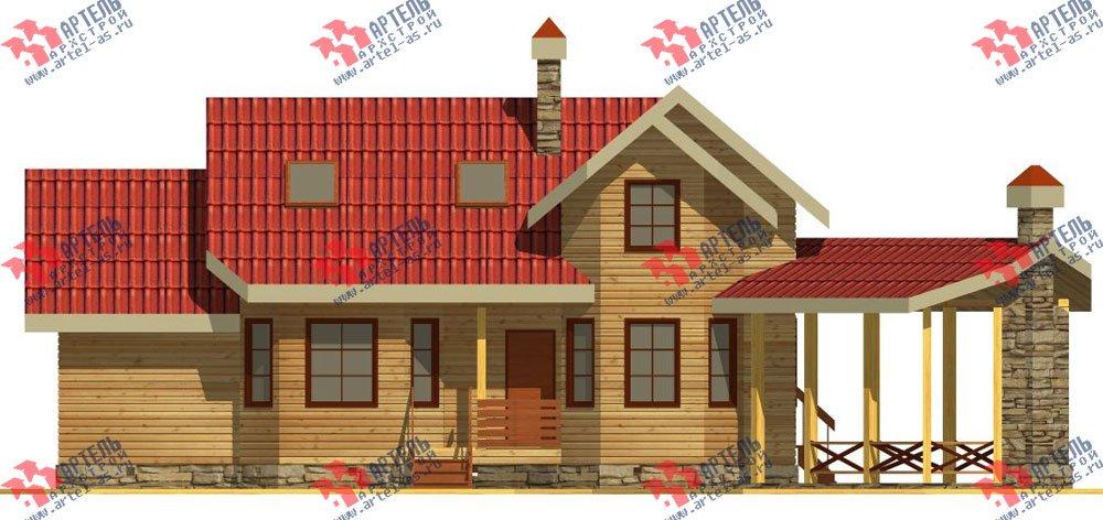 двухэтажный дом из профилированного бруса площадью от 100 до 150 кв. м. с  мансардой, террасой, эркером, проект Вариант 6.7 Б фотография 2478