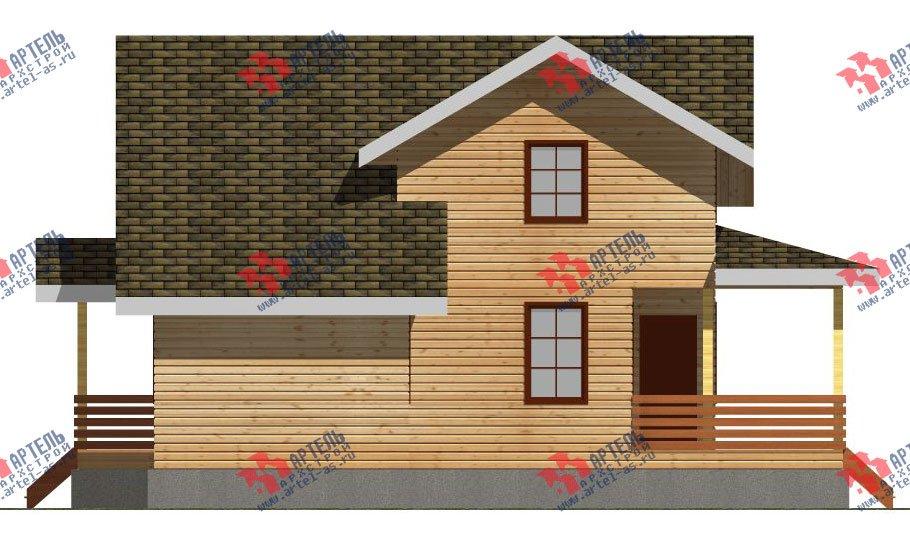 двухэтажный дом из профилированного бруса площадью от 100 до 150 кв. м. с  мансардой, террасой, проект Вариант 8.8 Б фотография 2452