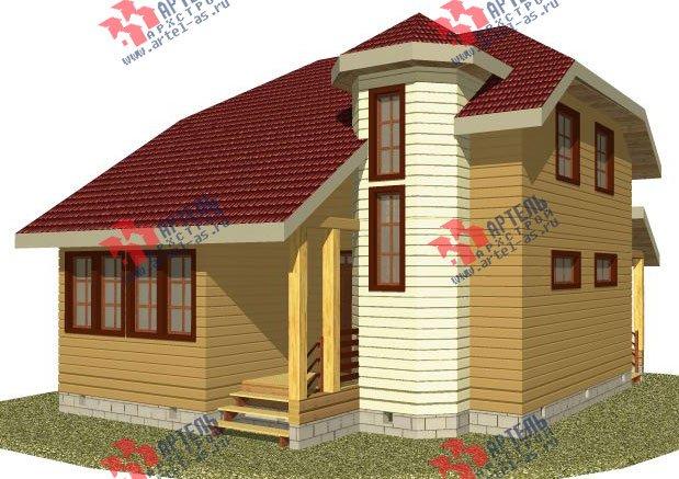 двухэтажный дом из профилированного бруса камерной сушки площадью от 100 до 150 кв. м. с  мансардой, эркером, проект Вариант 2 фотография 2528