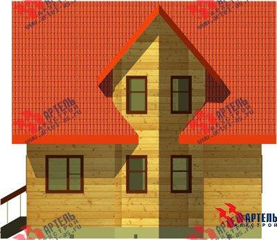 двухэтажный дом из бруса площадью до 100 кв. м. с  мансардой, эркером, проект Вариант 6 А фотография 674