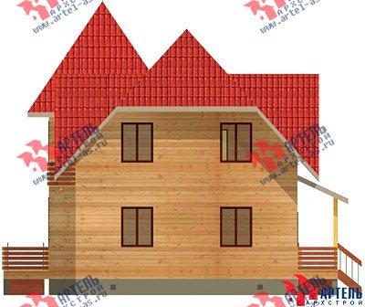 двухэтажный дом из профилированного бруса площадью от 150 до 200 кв. м. с  балконом, мансардой, проект Вариант 9 К фотография 1276