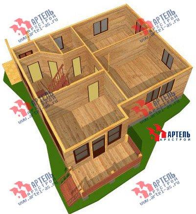 двухэтажный дом из профилированного бруса площадью от 150 до 200 кв. м. с  балконом, мансардой, проект Вариант 9 К фотография 1278