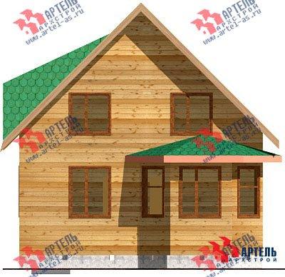 двухэтажный дом из профилированного бруса площадью до 100 кв. м. с  мансардой, эркером, проект Вариант 7 Д фотография 820