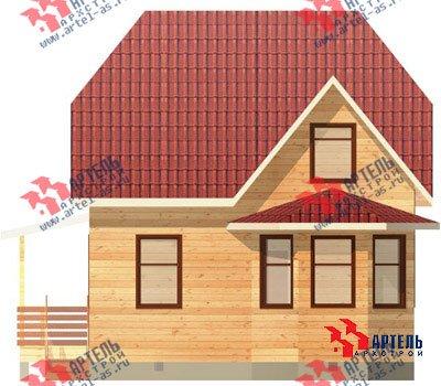 двухэтажный дом из профилированного бруса площадью до 100 кв. м. с  мансардой, эркером, проект Вариант 7 Е фотография 827