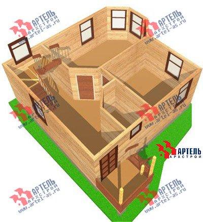 двухэтажный дом из профилированного бруса площадью до 100 кв. м. с  мансардой, эркером, проект Вариант 7 Е фотография 830