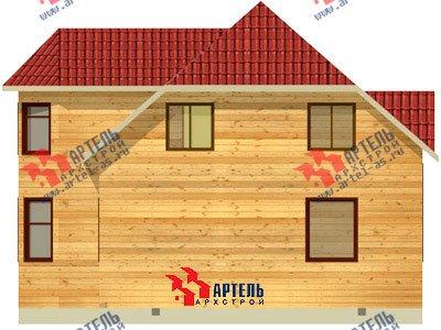 двухэтажный дом из бруса площадью от 150 до 200 кв. м. с  мансардой, эркером, проект Вариант 10 Б фотография 1334