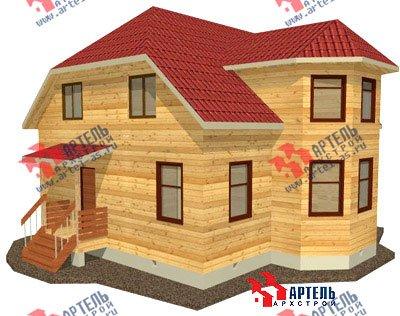 двухэтажный дом из бруса площадью от 150 до 200 кв. м. с  мансардой, эркером, проект Вариант 10 Б фотография 1333