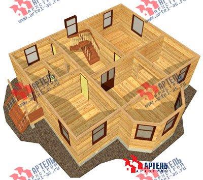 двухэтажный дом из бруса площадью от 150 до 200 кв. м. с  мансардой, эркером, проект Вариант 10 Б фотография 1338