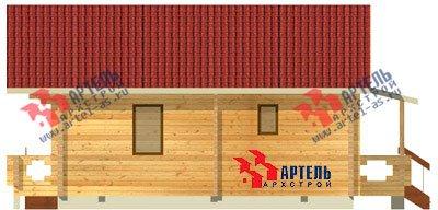 одноэтажный дом из профилированного бруса площадью от 100 до 150 кв. м. с  террасой, проект Вариант 10 В фотография 1140