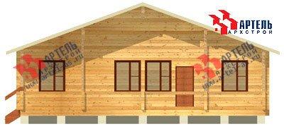 одноэтажный дом из профилированного бруса площадью от 100 до 150 кв. м. с  террасой, проект Вариант 10 В фотография 1141
