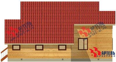 двухэтажный дом из бруса площадью свыше 200 кв. м. с  верандой, гаражом, мансардой, проект Вариант 12.8 А фотография 1444