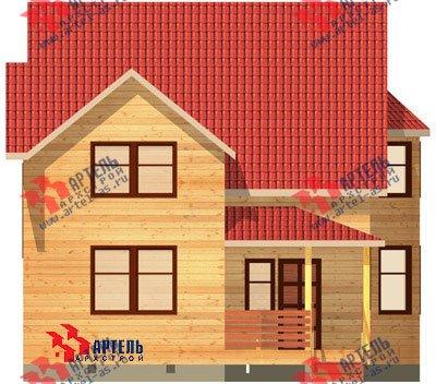 двухэтажный дом из бруса площадью от 100 до 150 кв. м. с  балконом, мансардой, террасой, эркером, проект Вариант 7.5 В фотография 935
