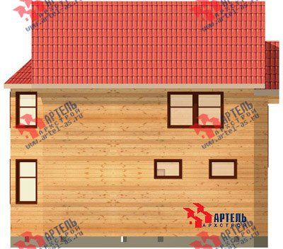 двухэтажный дом из бруса площадью от 100 до 150 кв. м. с  балконом, мансардой, террасой, эркером, проект Вариант 7.5 В фотография 937