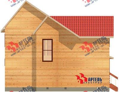 двухэтажный дом из бруса площадью от 100 до 150 кв. м. с  балконом, мансардой, террасой, эркером, проект Вариант 7.5 В фотография 938