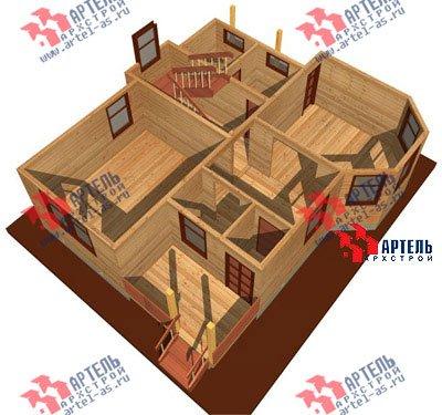 двухэтажный дом из бруса площадью от 100 до 150 кв. м. с  балконом, мансардой, террасой, эркером, проект Вариант 7.5 В фотография 939