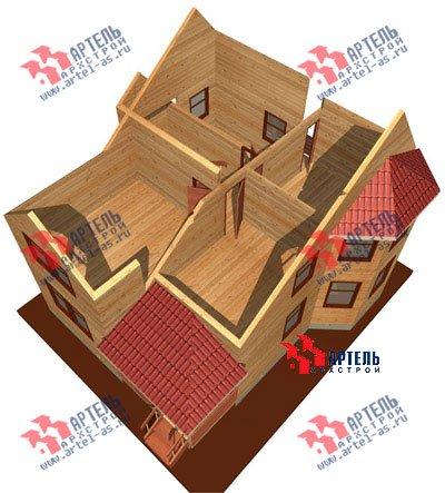 двухэтажный дом из бруса площадью от 100 до 150 кв. м. с  балконом, мансардой, террасой, эркером, проект Вариант 7.5 В фотография 940