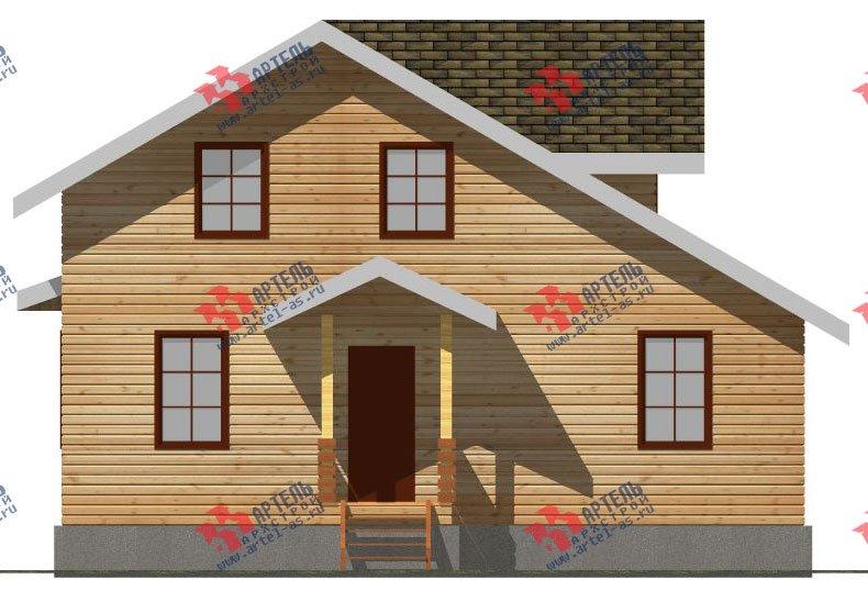 двухэтажный дом из профилированного бруса площадью от 100 до 150 кв. м. с  мансардой, террасой, проект Вариант 8.8 Б фотография 2453