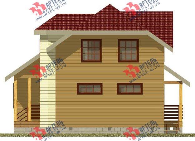 двухэтажный дом из профилированного бруса камерной сушки площадью от 100 до 150 кв. м. с  мансардой, эркером, проект Вариант 2 фотография 2531