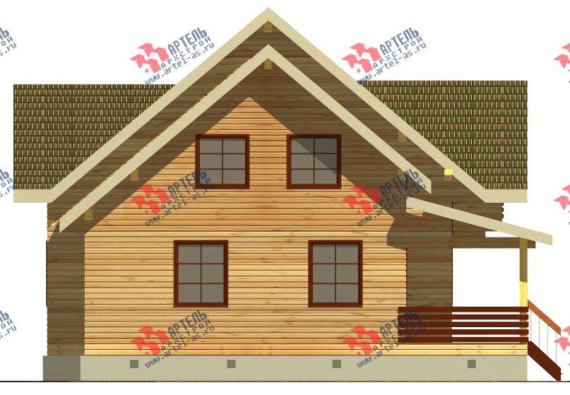 двухэтажный дом из бруса площадью от 150 до 200 кв. м. с  балконом, террасой, эркером, проект Вариант 12.4 А фотография 2680