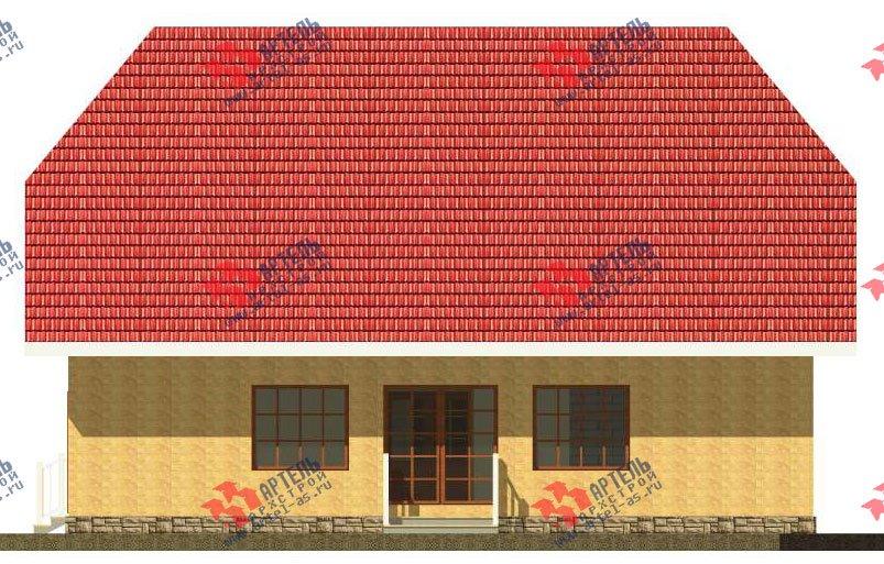 двухэтажный дом из камня площадью свыше 200 кв. м. с  верандой, проект Вариант 22 фотография 2692