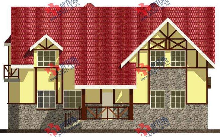 двухэтажный дом из камня площадью свыше 200 кв. м. с  балконом, эркером, проект Вариант 23 фотография 2713