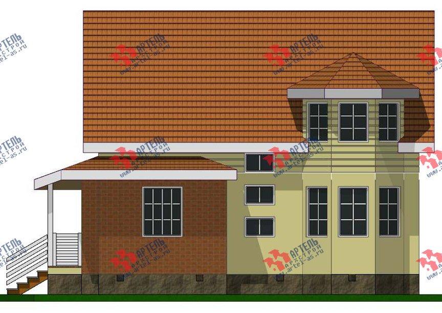 двухэтажный дом из профилированного бруса камерной сушки площадью от 100 до 150 кв. м. с  мансардой, эркером, проект Вариант 7 фотография 2800