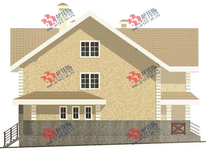 трёхэтажный дом из камня площадью свыше 200 кв. м. с  балконом, мансардой, эркером, проект Вариант 24 фотография 2747