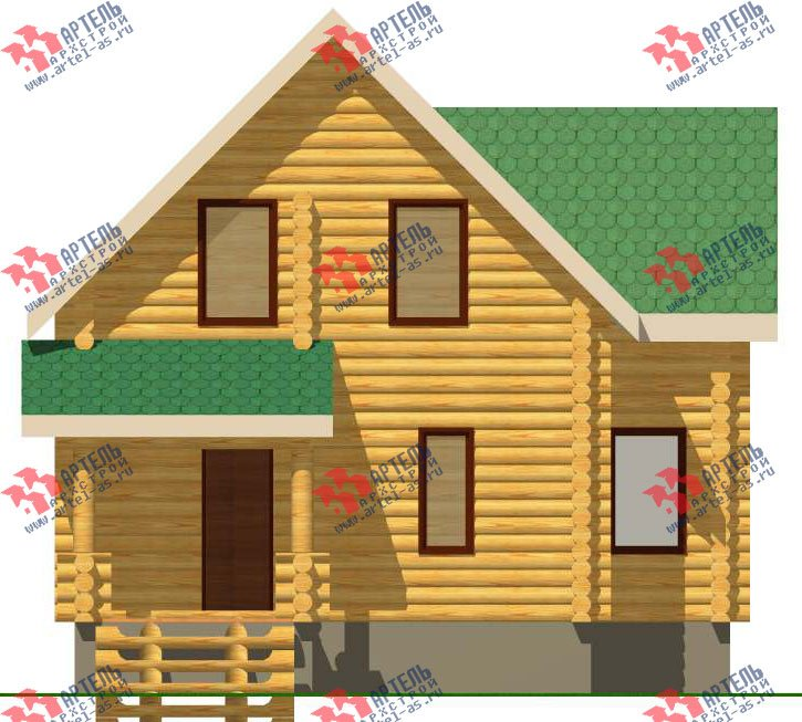 двухэтажный дом из оцилиндрованного бревна площадью от 100 до 150 кв. м. с  эркером, проект Вариант 1 фотография 3026