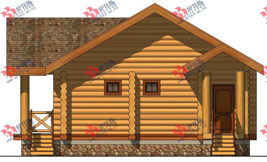одноэтажный дом из оцилиндрованного бревна площадью до 100 кв. м. с  террасой, проект Вариант 2 фотография 3036