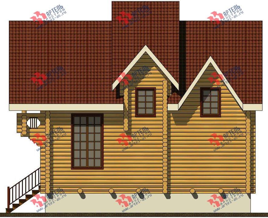 трёхэтажный дом из оцилиндрованного бревна площадью свыше 200 кв. м. с  балконом, террасой, проект Вариант 5 фотография 3081