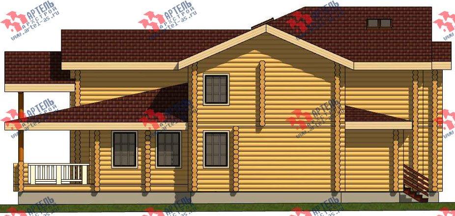 двухэтажный дом из оцилиндрованного бревна площадью свыше 200 кв. м. с  террасой, проект Вариант 8 фотография 3116