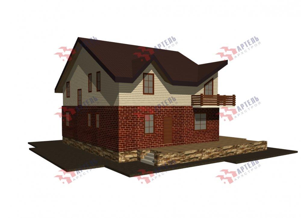 дом омбинированные дома, проект Вариант 12.6 А Комбинированный фотография 5522