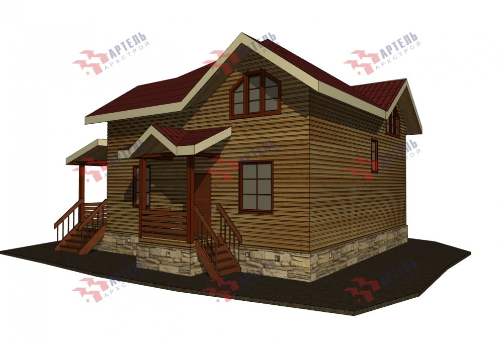 одноэтажный дом из профилированного бруса площадью от 150 до 200 кв. м., проект Вариант 9.3В фотография 5634