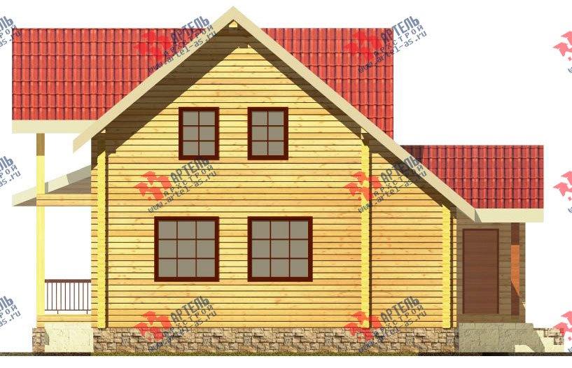 двухэтажный дом из профилированного бруса площадью от 150 до 200 кв. м. с  мансардой, террасой, проект Вариант 8.5 Л фотография 80