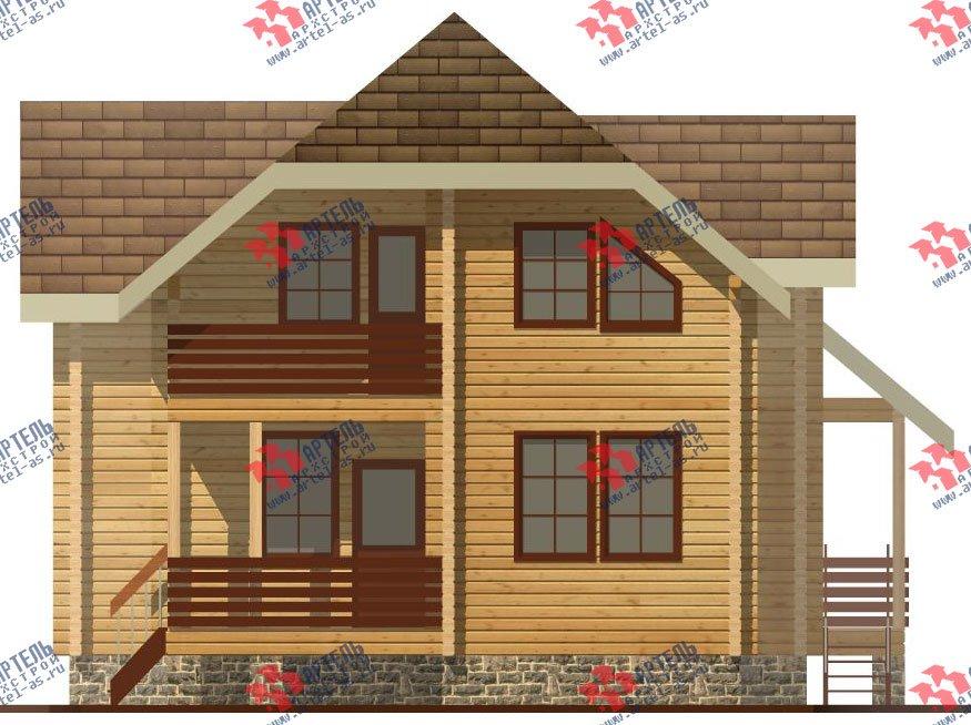двухэтажный дом из профилированного бруса площадью от 100 до 150 кв. м. с  верандой, мансардой, эркером, проект Вариант 8.2 К фотография 351