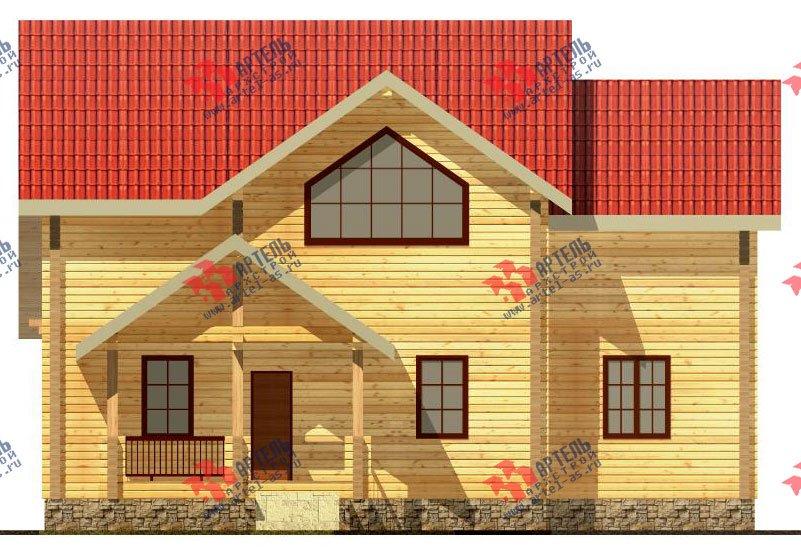 двухэтажный дом из профилированного бруса площадью от 150 до 200 кв. м. с  мансардой, террасой, проект Вариант 9.5 Т фотография 89