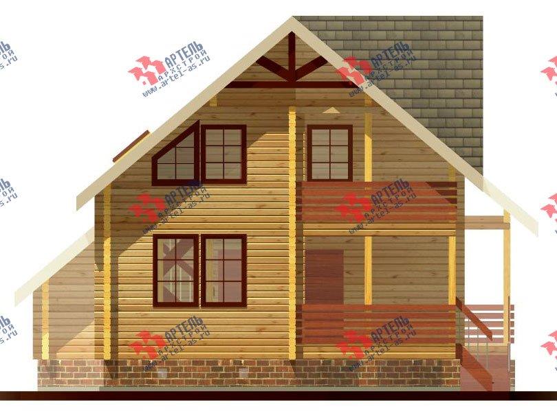 двухэтажный дом из профилированного бруса площадью от 150 до 200 кв. м. с  балконом, террасой, проект Вариант 7.7 А фотография 383