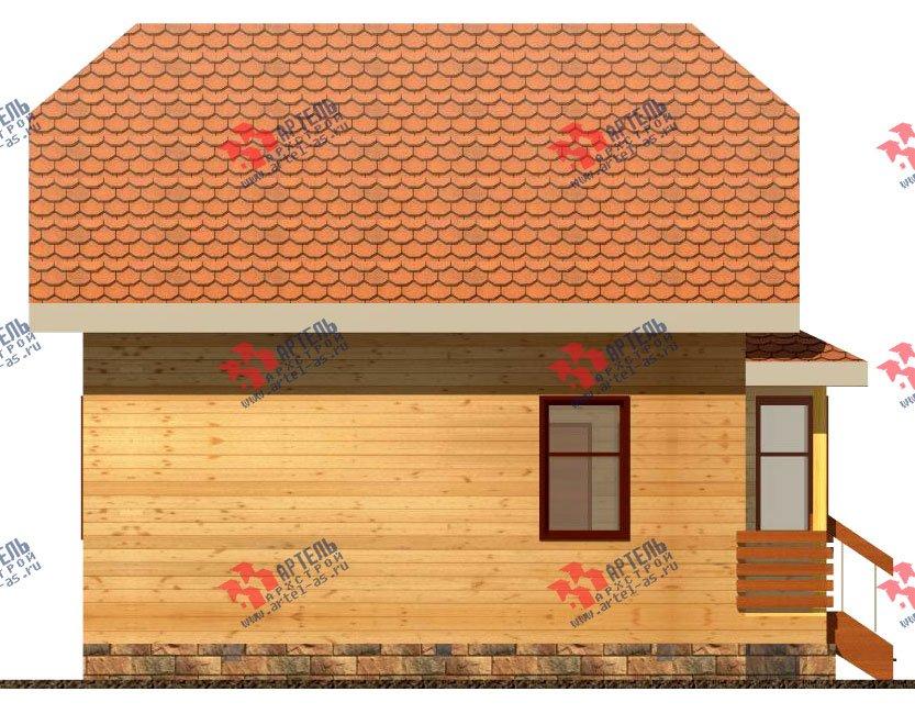 двухэтажный дом из бруса площадью до 100 кв. м. с  мансардой, эркером, проект Вариант 6.2 А фотография 711